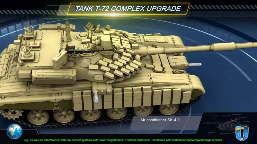 Изображение варианта модернизации Харьковским КБТМ танка Т-72, представленное на выставке Defexpo-2014.