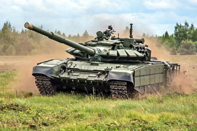 Т-72Б3 в движении