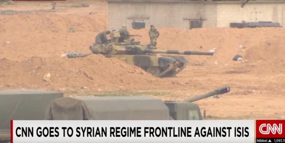 Танк Т-90 в капонире (с) CNN