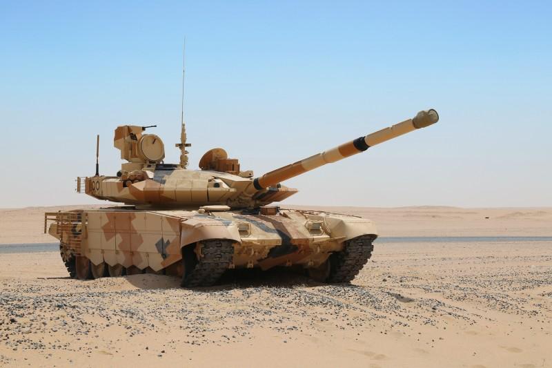 Танк Т-90МС на испытаниях