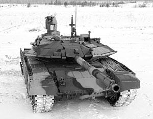 Новый российский танк Т-90С. Фото Игоря Коротченко
