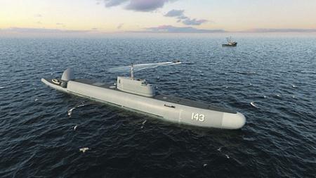 Таким разработчики видят погружающийся патрульный корабль «Страж». Рисунок ЦКБ МТ «Рубин»