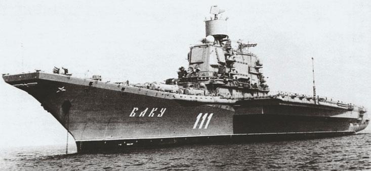 Тяжелый авианесущий крейсер «Баку», 1987 год.