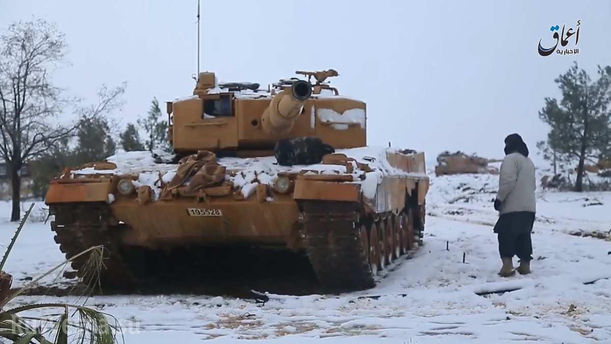 Танк «Леопард-2» захваченный террористами.