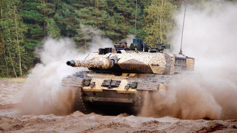 Танк Leopard 2 в камуфляжной системе Barracuda.