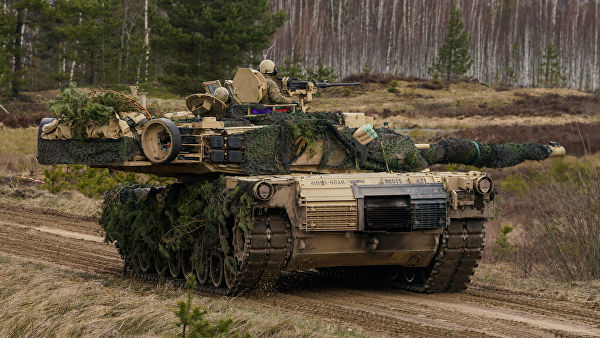 """Танк M1 Abrams на международных военных учениях """"Summer Shield XIV"""" в Латвии"""