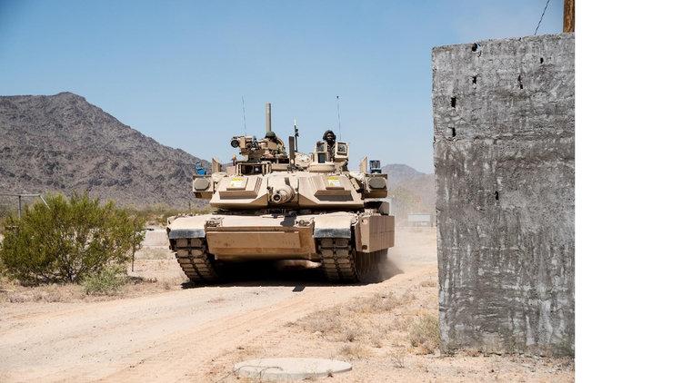 Опытные образцы оснащенного израильским комплексом активной защиты Rafael Trophy американского танка M1A2 SEPv2 Abrams.
