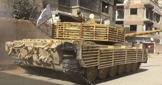 "Танк Т-72 боевиков террористической ""Ахрар аш-Шам""."