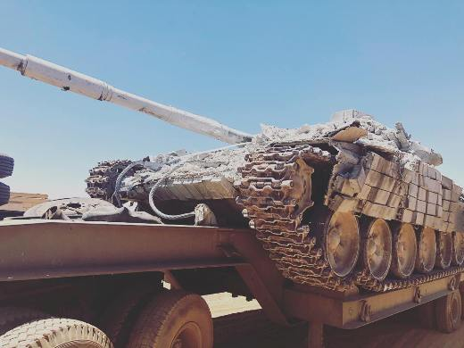 Танк Т-72 ВС Сирии, прошедший модернизацию с помощью итальянских компаний.