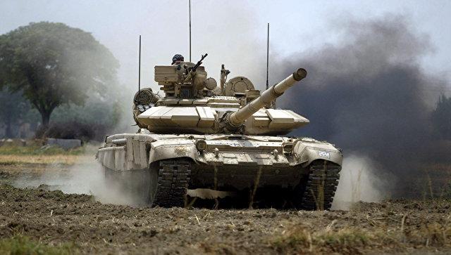Танк Т-90 индийской армии.
