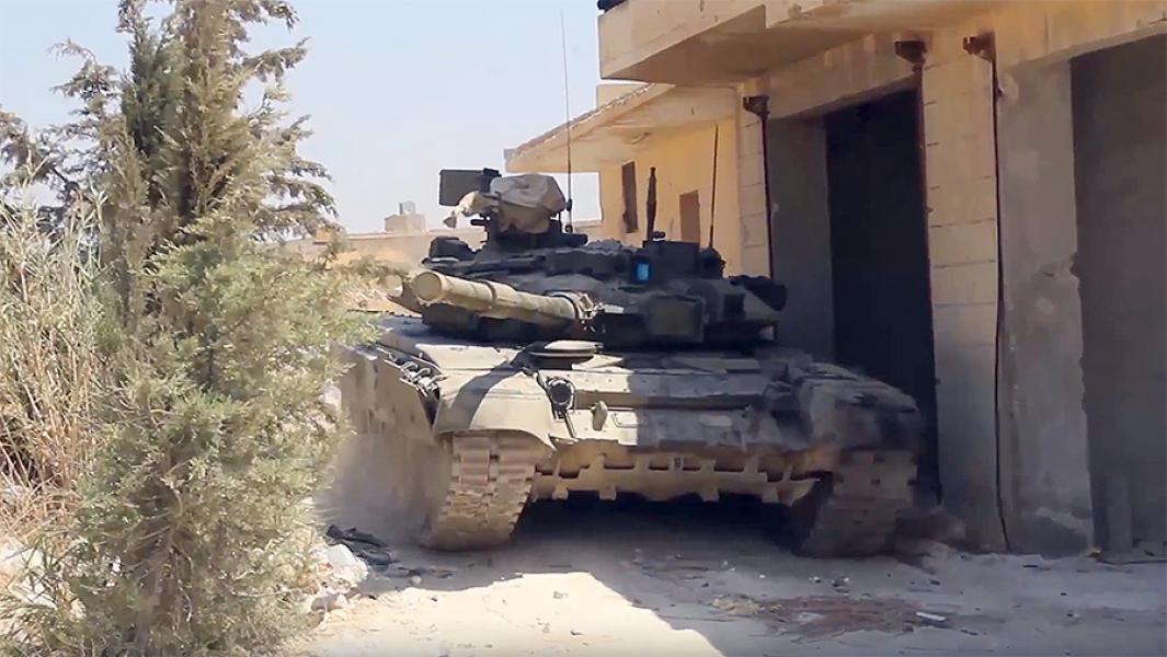 Танк Т-90 сирийской армии.
