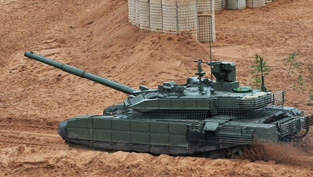 Танк Т-90М на учениях Запад-2017 в Ленинградской области. Архивное фото.