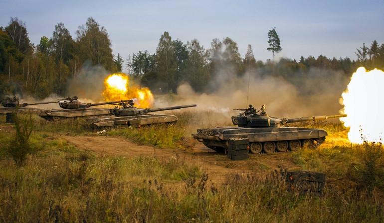Танки Т-72 польской армии.