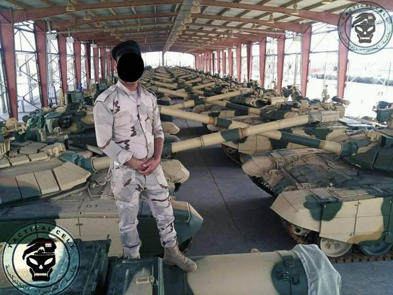 Танки Т-90С/Т-90СК в составе сухопутных войск Ирака.