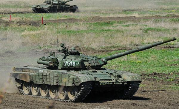 Танковые учения в Ростове-на-Дону