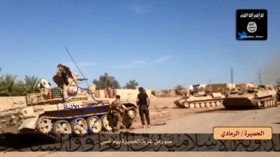 Колонна иракских танков