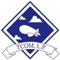 Логотип компании привязные коммуникации Tethered Communications - TCOM