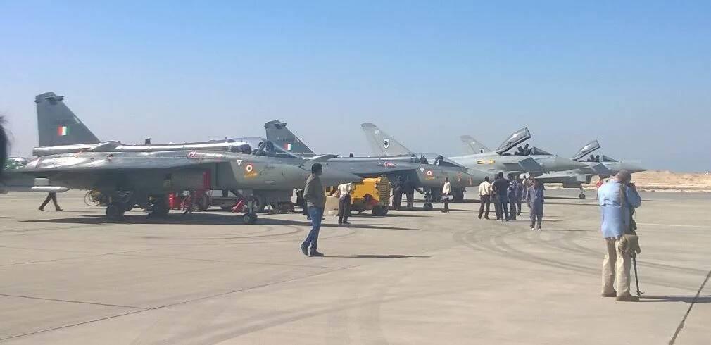 Легкий боевой самолет LCA Tejas на ВВС Бахрейна.