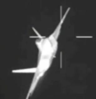 Тепловая сигнатура F-22 с передней полусферы.