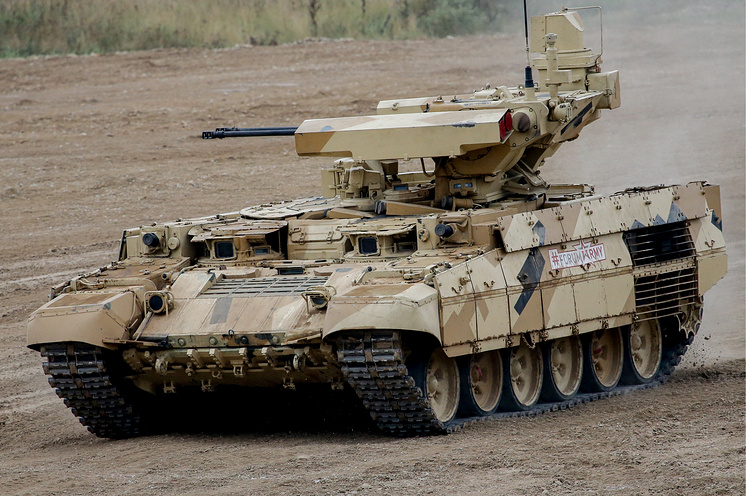 """Боевая машина поддержки танков """"Терминатор-1""""."""