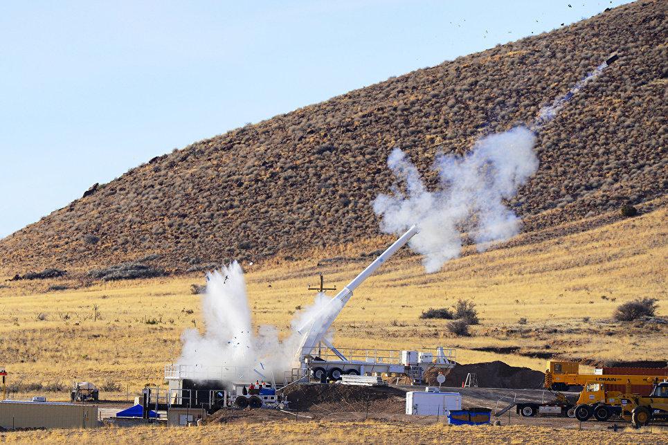 Тестовые испытания макета бомбы B61-12 в штате Нью-Мексико, США. 28 января 2015 года.