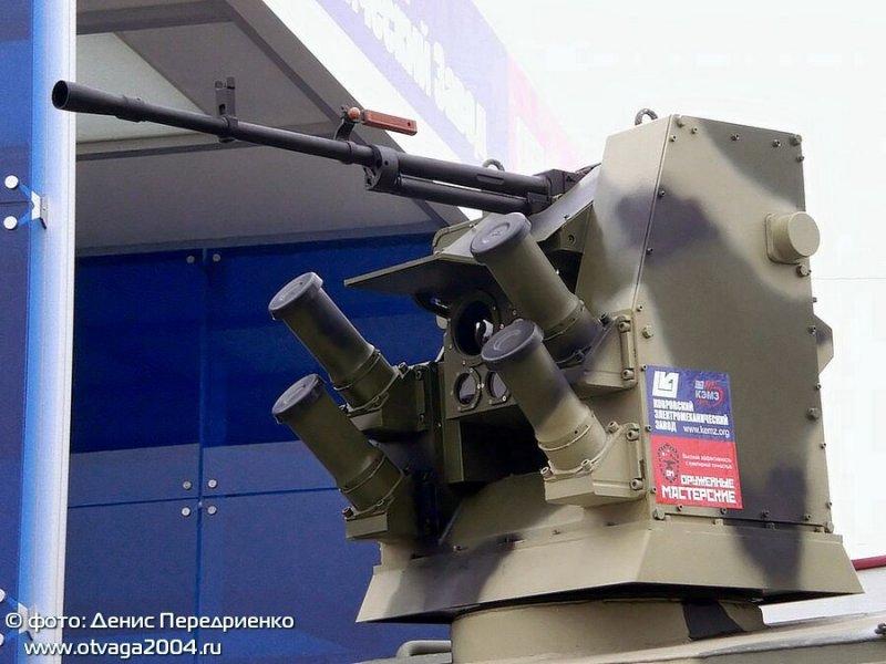 Боевой модуль, разработанный компанией «Оружейные мастерские» в партнерстве с Ковровским электромеханическим заводом (КЭМЗ).