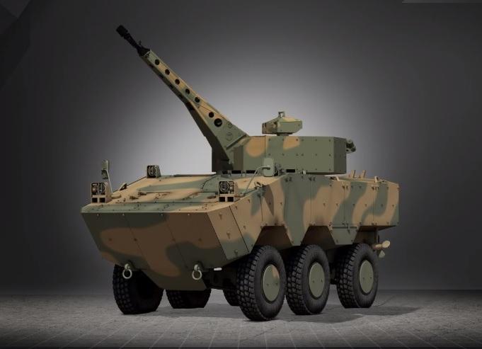 Дистанционно управляемый модуль вооружения TORC30, установленный на  ББМ Iveco VBTP-MR Guarani (6x6).