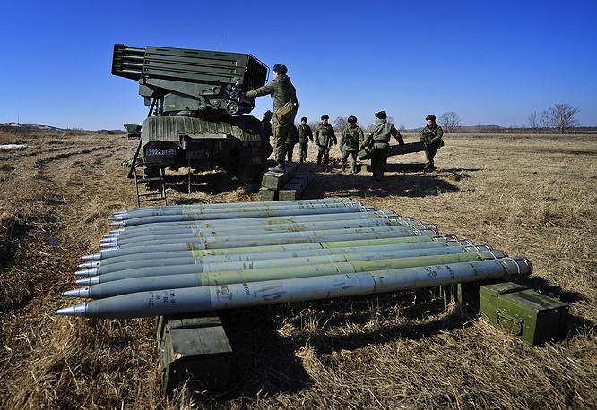 "Модернизированная реактивная система залпового огня ""Торнадо-Г"" калибра 122 мм."