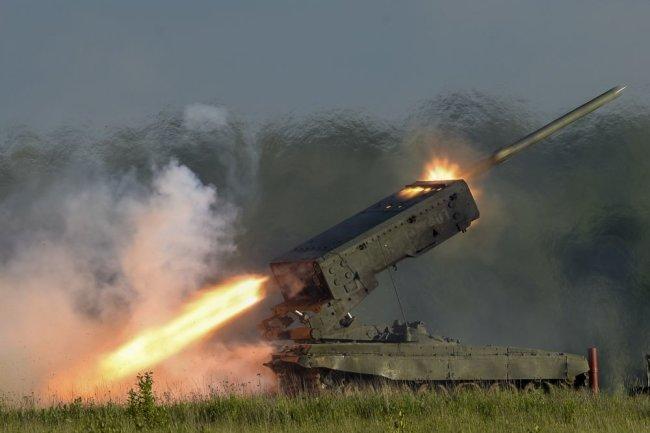 ТОС-1 «Буратино» — тяжёлая огнемётная система (ТОС) залпового огня на базе танка Т-72.