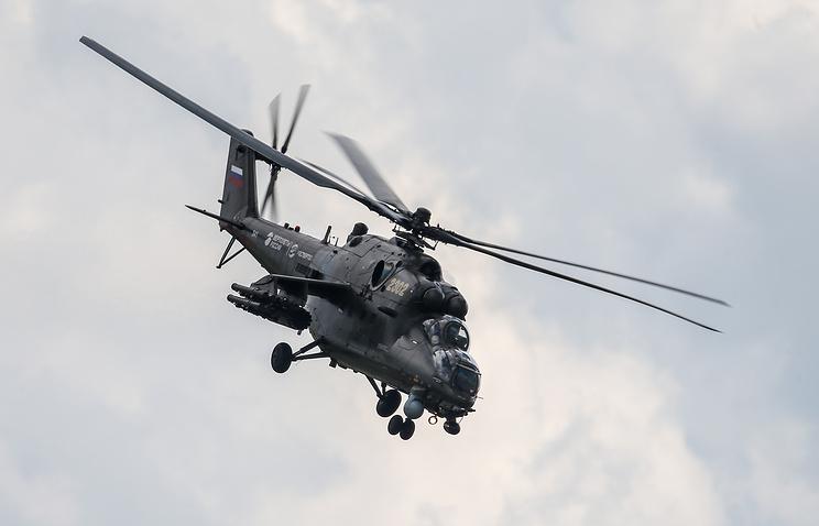 Транспортно-боевой вертолет Ми-35.