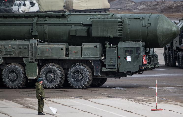 """Транспортно-пусковая установка комплекса РС-24 """"Ярс""""."""