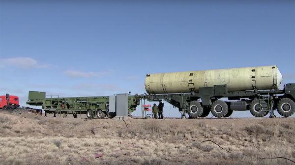 Транспортно-пусковой контейнер, предположительно, новой противоракеты ПРС-1М (53Т6М)