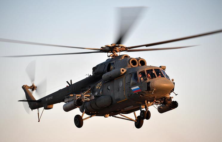Транспортно-штурмовой вертолет Ми-8АМТШ.