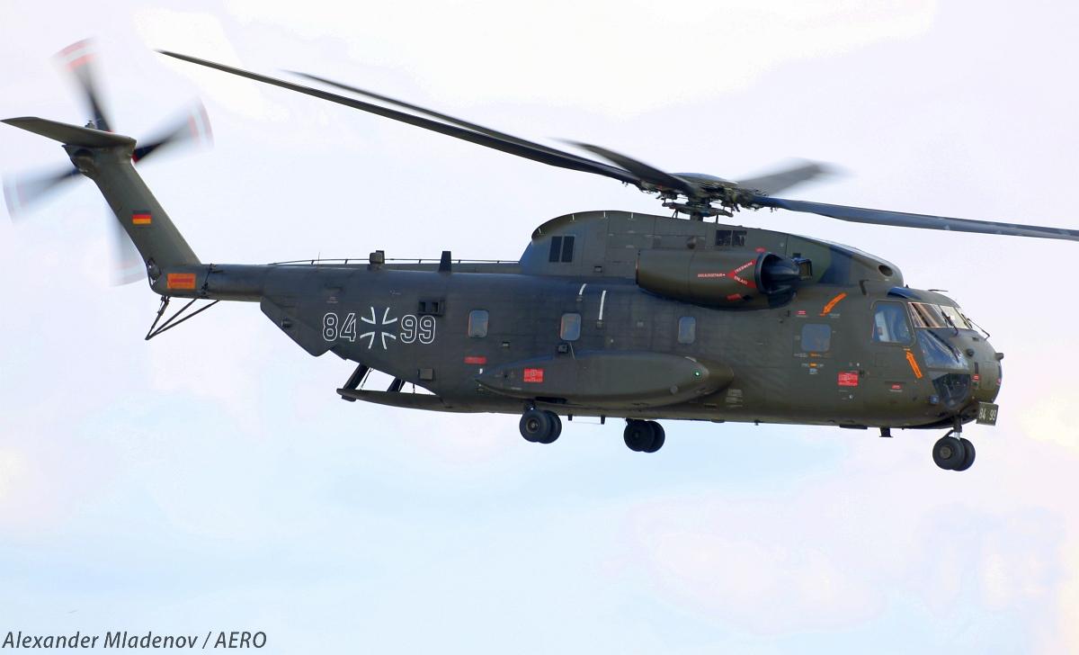 Транспортный вертолет Sikorsky/VFW-Fokker СН-53GA (регистрация 84+99) ВВС Германии.