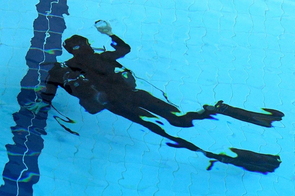 Тренировка боевых пловцов в центре специального назначения ФСБ РФ.
