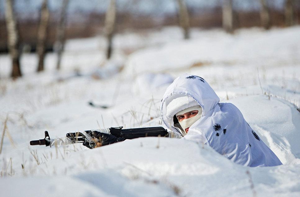 Тренировка курсантов Арктического подразделения ДВВКУ.