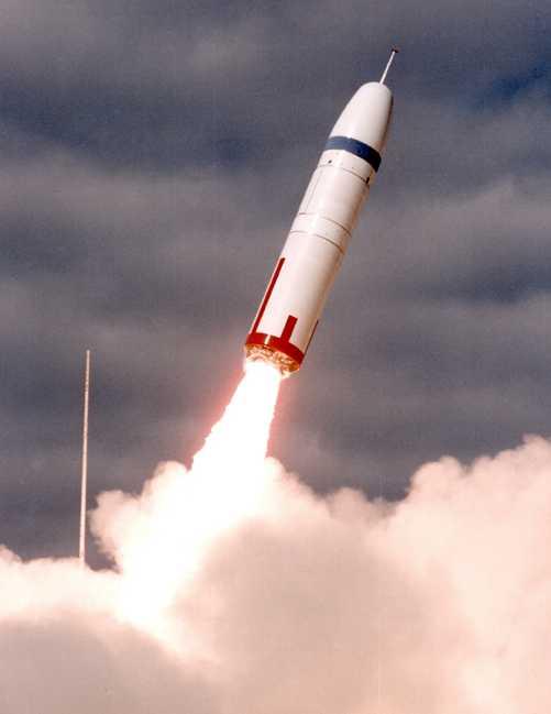 Трёхступенчатая баллистическая ракета UGM-96A Trident I С-4.