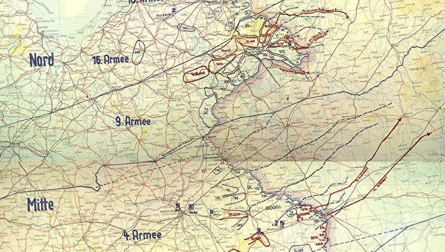 Трофейная карта План Барбаросса. 22 июня 1941.