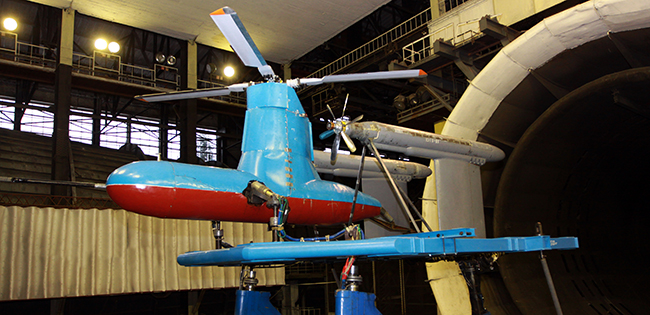 Многофункциональный стенд для испытаний крупномасштабных макетов перспективных скоростных вертолетов.