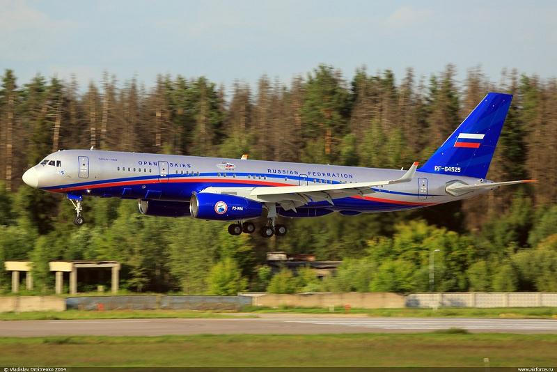 Второй самолет Ту-214ОН (регистрационный номер RF-64525, cерийный номер 525), построенный для Министерства обороны России, и сданный в 2014 году.