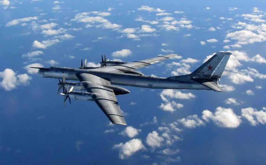 Российский стратегический бомбардировщик Ту-95МС.
