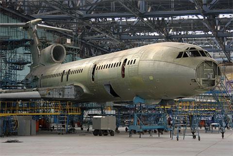 Постройка Ту-154