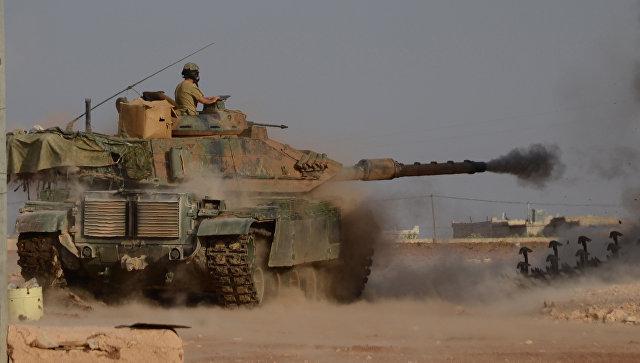 Турецкие войска при содействии отрядов так называемой Сирийской свободной армии проводят на севере Сирии операцию Щит Евфрата. Октябрь 2016.