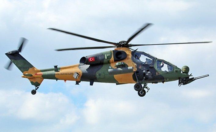 Турецкий ударный вертолет T-129.