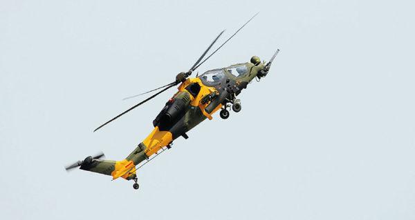 Турецкий вертолет T-129 ATAK