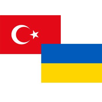 Флаги Турции и Украины