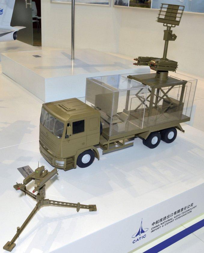 Модель ЗРК малой дальности TY-90, представленная на выставке AAD 2016 (ЮАР) китайской компанией China National Aero-Technology Import & Export Corporation (CATIC).