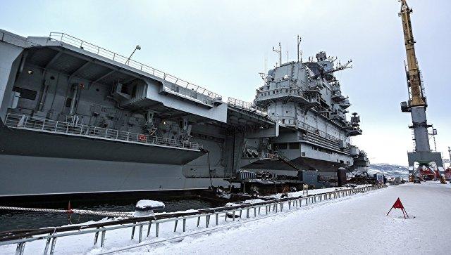 Тяжелый авианесущий крейсер Северного флота Адмирал Кузнецов. Архивное фото.