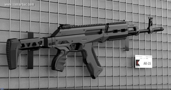 АК-15 3D Concept Art