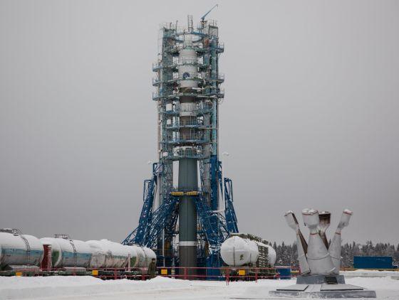 РН Союз-2-1в на стартовом комплексе космодрома Плесецк